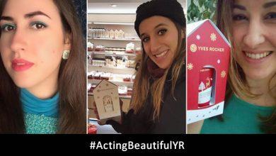 Publicações #actingbeautifulyr nas redes sociais (Joana Borrega, Eva Vasconcelos e Cristina Pais) Yves Rocher
