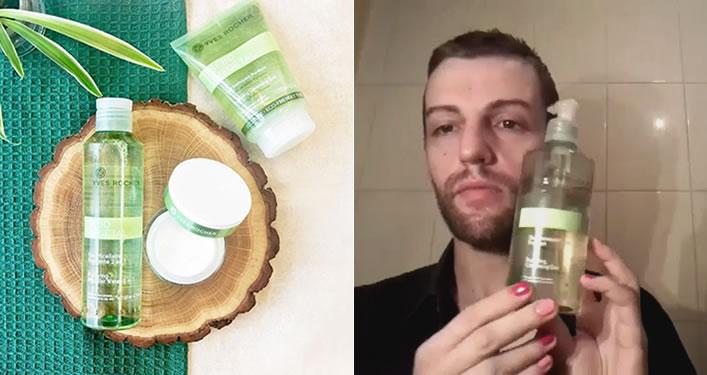 Escolha de Ricardo Bernardo: Gel de Limpeza Purificante Sebo Vegetal Yves Rocher