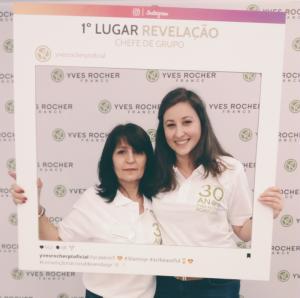 Chefe de Grupo Yves Rocher: Cristina Pais | Responsável de Zona: Lina Sousa